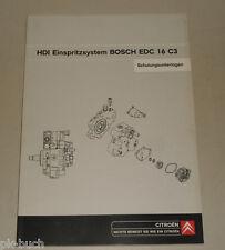 Schulungsunterlage Citroen Xsara Picasso HDI Einspritzsystem Bosch EDC16C3 2003