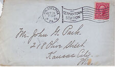 POSTAL HISTORY - 1903 COVER FROM PHILADELPHIA, PA GERMANTOWN STA TO KC, MO FLAG