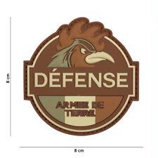 Patch 3D PVC Défense Armée de Terre écusson insigne militaire coq airsoft