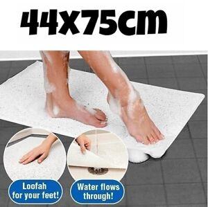 Shower Rug Anti Slip Loofah Bathroom Bath Mat Carpet Water Drains Non Slip 44x75