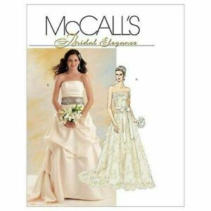 Wedding Top Skirt Sash Bustier Strapless Bridal McCalls Sewing Pattern 5807 6-12