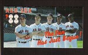 Boston Red Sox--Ellis Burks--Mike Greenwell--1988 Schedule--Polaroid