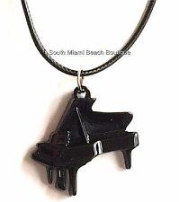 Black Grand Piano Keyboard Necklace Pendant Musician Music Teacher Gift USSeller