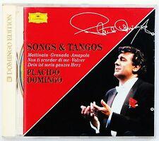 PLACIDO DOMINGO DIE SCHONSTEN LIEDER UND TANGOS CD ALBUM DEUTSCHE GRAMMOPHON GDE