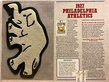 1927 PHILADELPHIA ATHLETICS PATCH WILLABEE & WARD 125 YEARS OF BASEBALL