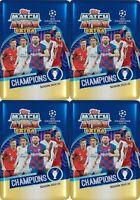 (4) 2019-20 Topps UEFA Champions League Soccer Match Attax EXTRA NIB MIDI TINS