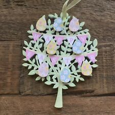 Happy Easter Egg Sign Tree Hanging Decoration Pretty Gift Gisela Graham Glitter