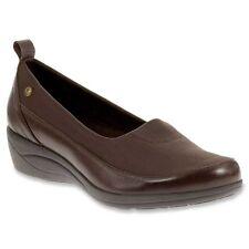 Womens 8 M Hush Puppies Valoia Oleena Dark Brown Leather Comfort Dress Shoes