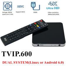 TVIP V.600 TV Box IPTV 4K 2160p HEVC Linux Android Multimedia Stalker Streamer