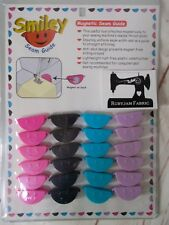 PINK Smiley Magnetic seam guide for sewing machine sew straight seams FREEPOST
