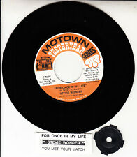 """STEVIE WONDER For Once In My Life 7"""" 45 vinyl record + juke box title strip NEW"""