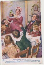 Charles Dickens Postcard - Bob Cratchets Christmas Dinner - Tuck Oilette