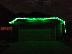 LED Christmas Lights 100 Interior/Exterior 30ft Linkable to 150ft 110V Outdoor