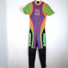 Mobby Design Men's Small Neon Neoprene Wet Suit Wetsuit VTG 90s H20 Body Surfing