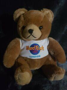 """9"""" Hard Rock cafe (London) Brown Bear Plushness! exclusive plush!"""