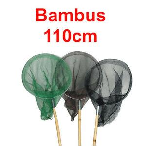 Kinder Kescher Bambus 110cm Ø 18cm Kinderkescher 1-12 Stück Strandkescher NEU