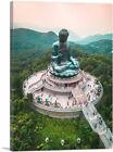 ARTCANVAS Tian Tan Buddha Monumental Statue Hong Kong China Canvas Art Print