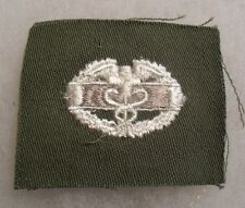 EARLY VEITNAM WAR COMBAT MEDIC US ARMY WHITE EMBROIDERED ON OD TWILL UNUSED