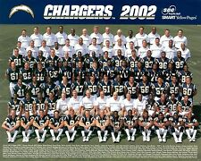 2002 SAN DIEGO CHARGERS NFL FOOTBALL 8X10 TEAM PHOTO DREW BREES LADAINIAN TOMLIN