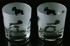 Schnauzer Dog Whisky Glasses by Glass in the Forest.