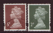 GREAT BRITAIN 2014 2 LITHO DEFINITIVE STAMPS FINE USED