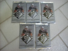 2008 FOOTBALL SP - 5 Sealed Packs - Look For ROOKIE AUTOGRAPHS 5 Cards per Pack