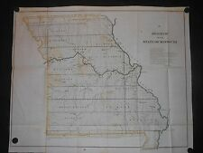 Missouri 1849 Map Cape Girardeam New Madrid Indian Boundary Copper Mines Hand Co