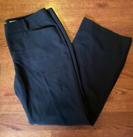 Michael Kors Black Gramercy Fit Pants Work Career Women's Size 14 Wide Leg