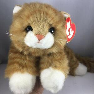 """TY Classic Plush AL E. KAT 16"""" Orange Cat (Lying Flat Version) Rare Vintage 1987"""