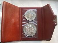Malta 1973 TalImdina Gate Mint Set of 2 Silver Coins,UNC