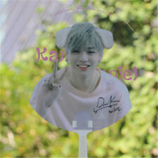 Portable KPOP Wanna One Kang Daniel PVC Transparent Hand Fan Summer Handmade