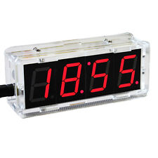 38E DIY Digital LED Large Screen Display Clock kit with case Red
