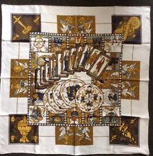 Hermes Paris le tarot soie écharpe annie Faivre 90x90cm
