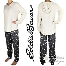 Eddie Bauer Womens Pajama Set Long-Sleeve Hoodie & Pants with Drawcord Large NEW