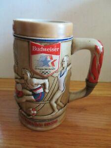 Budweiser 1984 XXIIIrd OLYMPICS Games LOS ANGELES Ceramic Mug NADIA COMANECI