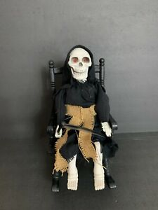 Vintage 1994 Halloween Gemmy Animated Grim Reaper Rocking Chair