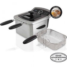 Farberware Home Electric Deep Fryer Countertop 4L Capacity Stainless Steel Fries
