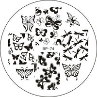 Various Butterfly Nail Art Stamping Stamp Template Image Plate BORN PRETTY BP74