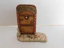 Krystonia ~ #3301 Door Gateway to Krystonia ~ Figurine with Krystal England