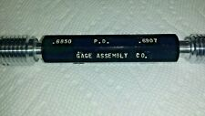 "3/4-10 UNC-3B Thread Plug Gage Inspection Gauge Standard PD's .6850/.6907"""