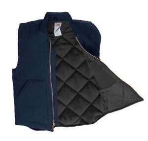 CARHARTT Gilet imbottito V02 sandstone arctic vest cowboy buckaroo midnight blu