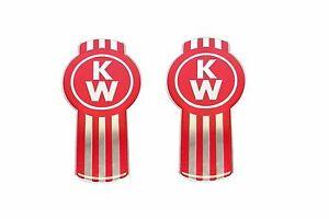 2x Kenworth Truck Bug Emblem - Enamel - L53-1002-10