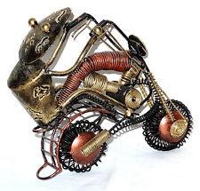 Moto Biker Fer Forgé Déco Métal artisanal cadeau motard original miniature