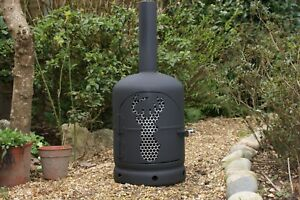 Upcycled Gas bottle, log burner,fire pit, patio heater.. Stags head design