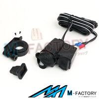 12V Weatherproof Power Socket USB Charger Plug For Harley Davidson Motorcycles