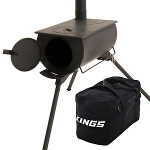 Adventure Kings Camp Oven/Stove + 40L Duffle Bag Camping Storage Ultra-Strong