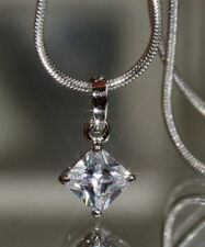 Princess Excellent Cut Fine Diamond Necklaces & Pendants