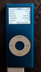 APPLE IPOD NANO BLUE 2ND GENERATION 4GB A1199