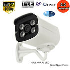 P2P HD 1080P 2.0 Megapixel Outdoor 4Array LED CCTV Network IP POE Camera