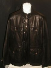 Hugo Boss Dark Brown 100% Lamb Leather Field Jacket, Sz. 42R GORGEOUS!!!